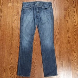 7 For All Mankind Edie Slim Straight Cut Jeans 32